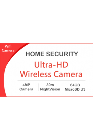 Wireless camera package
