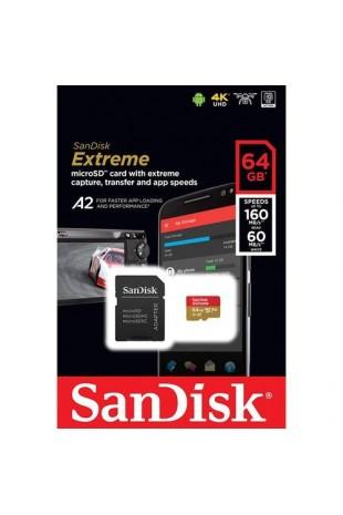 SanDisk A2 MicroSD U3 64GB...